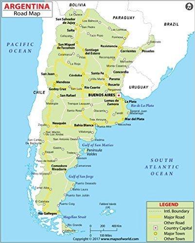Amazon.com : Argentina Highway Map (36\