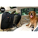 Deluxe Vehicle Car Travel Pet Dog Car Back Seat Fence Safety Barrier for Cars Trucks SUV (black)