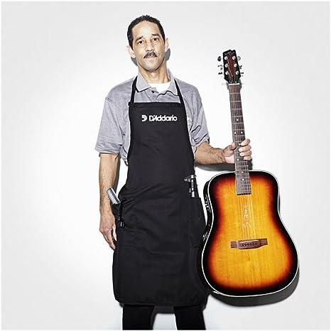 DAddario Logo de guitarra negra y diapasón delantal: Amazon.es ...