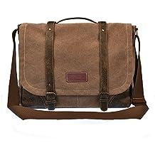 Laptop Messenger Bag for Men Leather Messenger Bag Briefcase 261