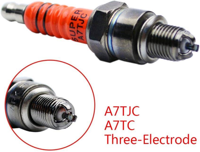 2 X 3 Elektrode A7tc A7tjc Zündkerze Für 50 Cc 70 Cc 90 Cc 110 Cc 125 Cc Dirt Bike Atv Scooter C7hsa Auto