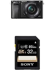 "Sony Alpha 6000 Systemkamera (24 Megapixel, 7,6 cm (3"") LCD-Display, Exmor APS-C Sensor, Full-HD, High Speed Hybrid AF) inkl. SEL-P1650 Objektiv schwarz und 32 GB Speicherkarte"