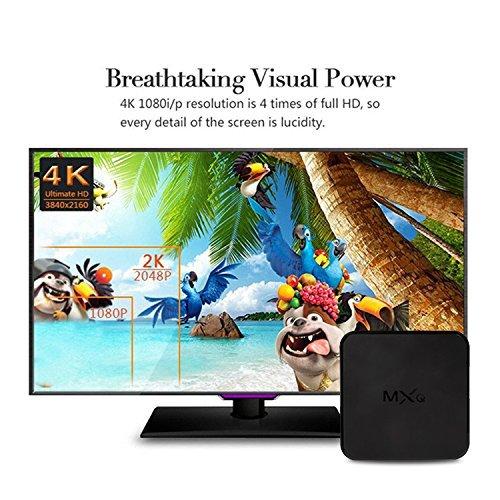 MXQ Android 6.0 TV Box R18 PRO 4K S905X Quard-core 1G+8G Wi-Fi Embedded with Wireless Keyboard by MXQ (Image #3)