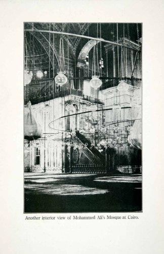1923-print-interior-mosque-muhammad-ali-pasha-cairo-egypt-alabaster-domes-cupola-original-halftone-p