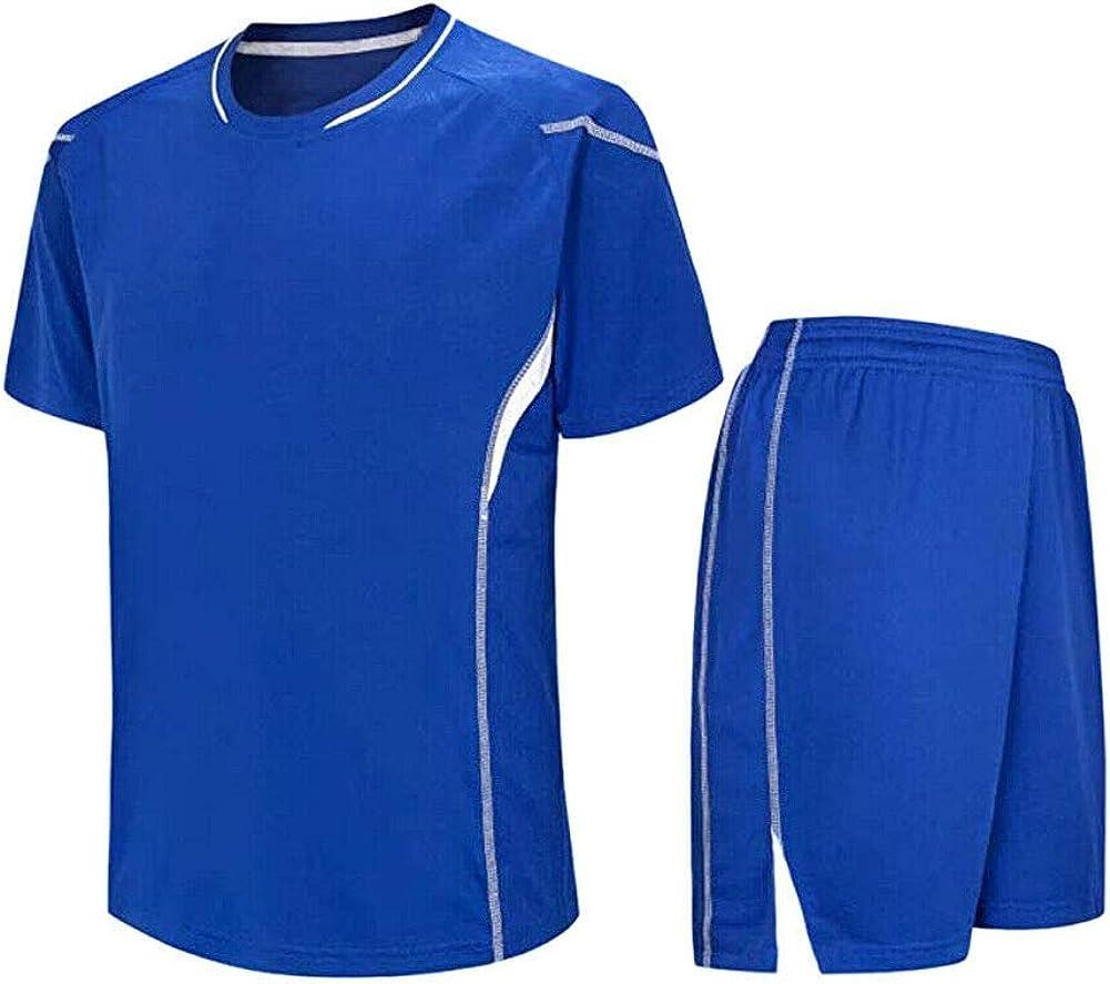 Meijunter Niño Adulto Fútbol Camiseta & Shorts Set - Entrenamiento del Equipo Competencia Sportswear Al Aire Libre Traje Soccer Jerseys Uniforme: Amazon.es: Ropa y accesorios