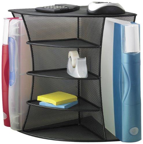 Safco Products 3261BL Onyx Mesh Desktop Corner Organizer, Black