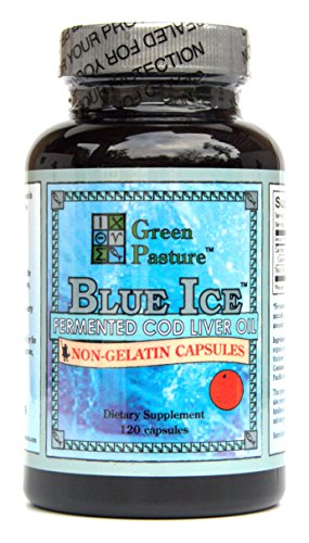 Blue Ice Fermented Cod Liver Oil Orange Flavor - 120 Caps
