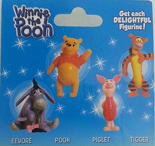 Diseny 4 Set Winnie the Pooh, Eeyore, Piglet and Tigger Fiqurines