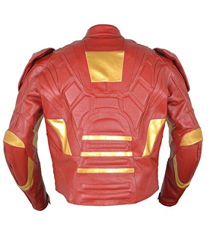 Moto hombre de Cow chaqueta de Red de para piel Hierro classyak Hombres zxCqwIv