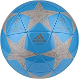adidas Performance Champion's League Finale Capitano Soccer Ball, 2016 Solar Blue/Tech Earth/Vapor Grey, Size 5