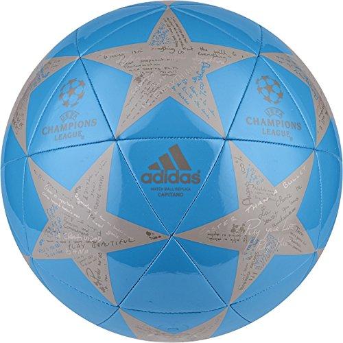 adidas Performance Champion's League Finale Capitano Soccer Ball, 2016 Solar Blue/Tech Earth/Vapor Grey, Size 5