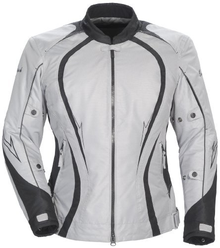 Cortech 'LRX Series 3' Womens Silver/Black Textile Jacket - Plus Small
