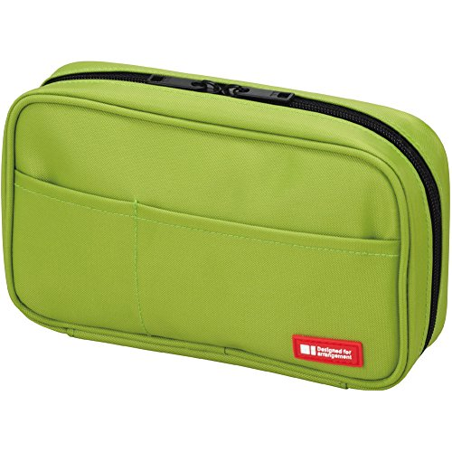 LIHIT LAB Pen Case, 7.9 x 2 x 4.7 inches, Yellow Green