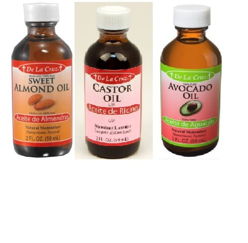 Almond Oil - Aceite De Almendras + Pure Avocado Oil + Cas...