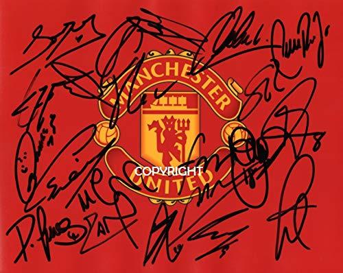 THEPRINTSHOP Manchester United 2018/19 Squad signiertes Foto mit Zertifikat, Limitierte Auflage