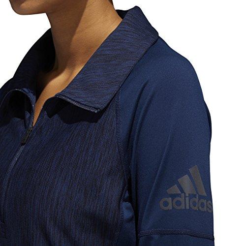Adidas Vrouwen Training Performer Basislijn 1/4 Zip Top Met Lange Mouwen Collegiale Marine Heathered