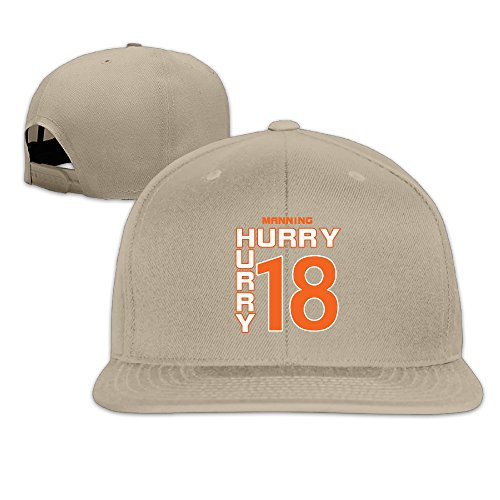 LINNA Custom Unisex-Adult #18 Football Player HURRY HURRY Flat Billed Hiphop Caps (Denver Broncos Nfl Nano)