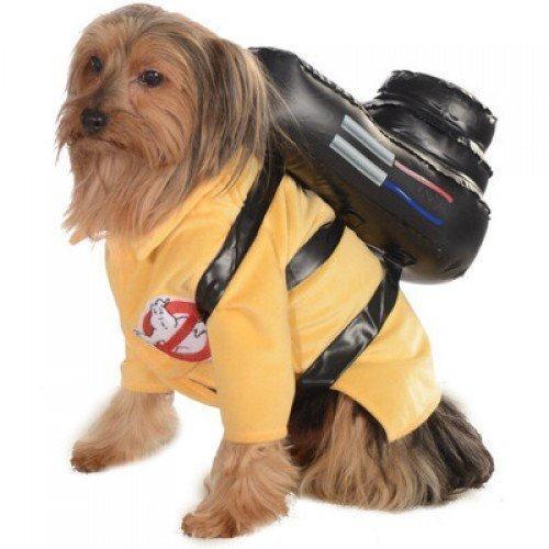 Official Pet Dog Cat Ghostbusters Halloween Fancy Dress Costume Outfit Clothes (Small)]()