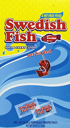 Swedish Fish Grab-and-Go Candy Snacks In Reception Box 240 P