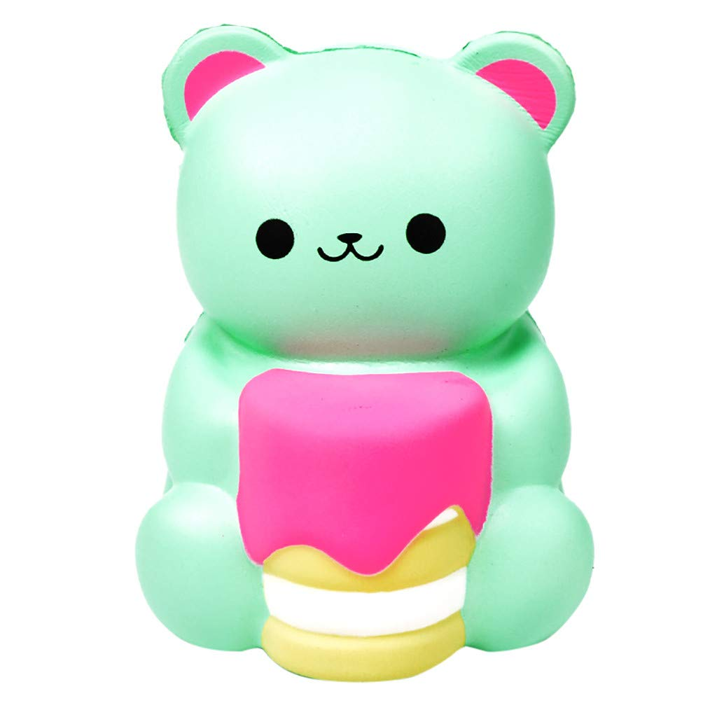 Likero Children Education, Sitting Bear Shape Decompression Venting Toy,Slow Rebound Simulation Animal Toy,Stress Relief Toys