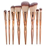 8 Piece Eyeshadow Cosmetic Make Up Tool Makeup Brushes Set Foundation Natural Beauty Palette Vanity Good Popular Eyes Faced Colorful Rainbow Hair Highlights Glitter Kids Travel Kit, Type-02