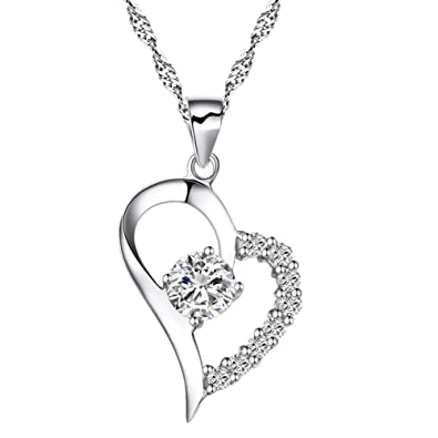 heart necklace hers fullxfull jewelry his and il plated pendant listing zoom gold half