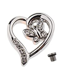 kesoto Charm Memorial Urn Necklace Stainless Steel Pet Ash Holder Cremation Jewelry Hollow Heart Shaped Pendant