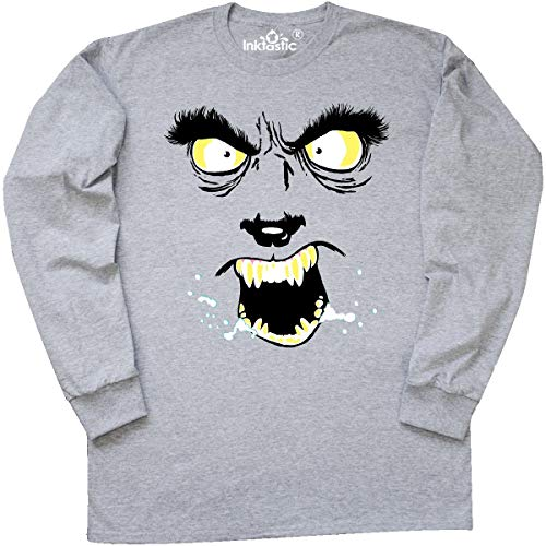 Inktastic Monster Faces Wolfman Long Sleeve T-Shirt