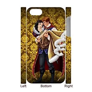 T-TGL(RQ) DIY snow White Pattern Protective Durable Back Case for Iphone 4/4S 3D