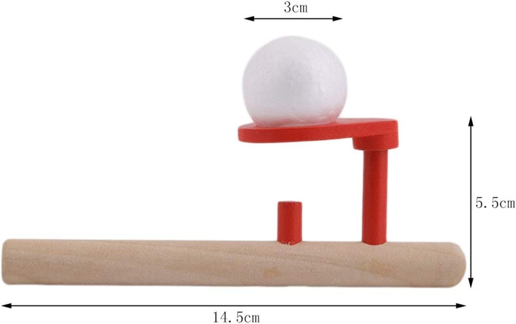 bois et rouge Mat/ériel Montessori B/éb/é en bois Coup de passe-temps Loisirs en plein air Amusant Sport Jouet Balle Balle flottante en mousse Balle flottante