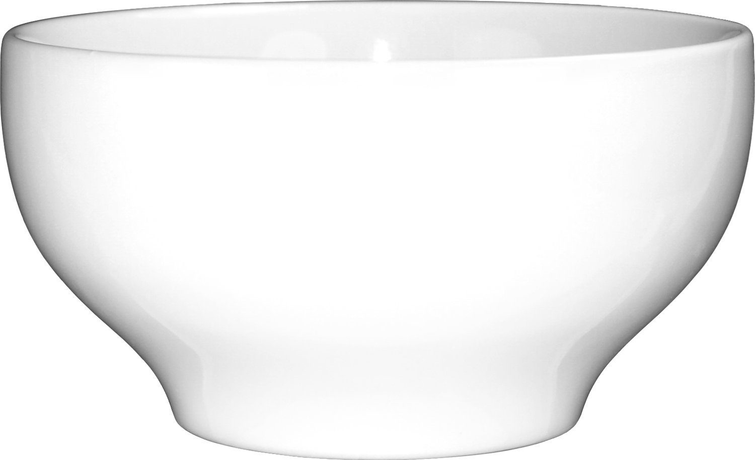 ITI-DO-45 Porcelain Dover 10-Inch Footed Bowl with Glazed Foot, 140-Ounce, 6-Piece, White