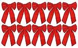 Red Velvet Christmas Bow 9-inch X 16-inch, 10
