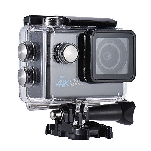"Andoer 2.0"" LCD Wifi Action Sports Camera Ultra HD 16MP 4K 30FPS 1080P 60FPS 4X Zoom 170 Degree Wide-Lens Support Image Rotation Time Watermark Waterproof 30M Car DVR DV Cam Diving Bicycle Andoer"