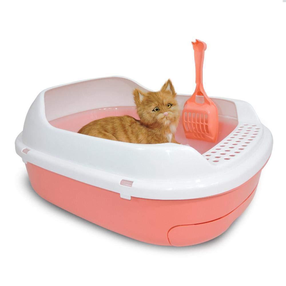 A Axiba Pet toilet Cat litter basin half closed cat toilet double cat Poo basin cat Supplies