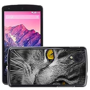 Super Stella Slim PC Hard Case Cover Skin Armor Shell Protection // M00147837 Cat Head Cat Face Pet Domestic Cat // LG Nexus 5