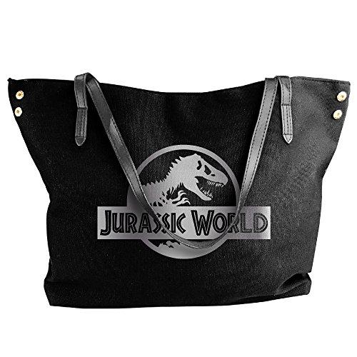 Jurassic World Black A Platinum Logo Women Shoulder Bags