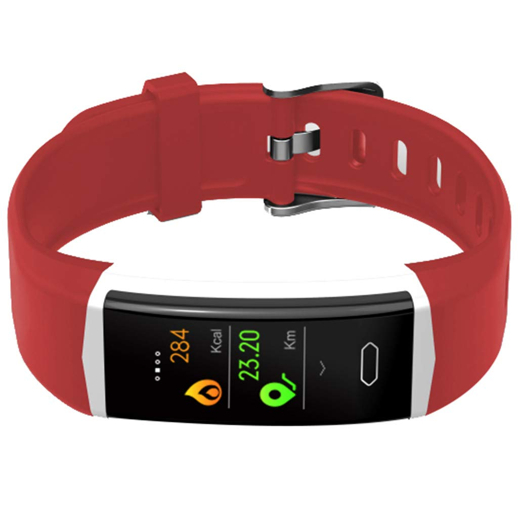 WELCOMEUNI Smart Watch for Android iOS Sports Fitness Calorie Wristband All-Day Heart Rate Wear Smart Watch