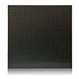 Elevated Materials Carbon Fiber Sheet - Heavy Duty Flat Panel Sheeting with Twill Woven Pattern - Perfect for Custom Projects - 12' x 12' x 1/8'