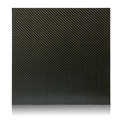 Elevated Materials Carbon Fiber Sheet - Heavy Duty Flat Panel Sheeting with Twill Woven Pattern - Perfect for Custom Projects - 12