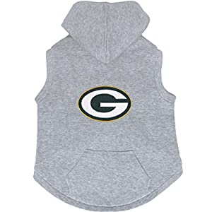 XL - Green Bay Packers Premium Dog Pet Sleeveless Hoodie Sweatshirt Embroidered Patch XL by Hunter Mfg
