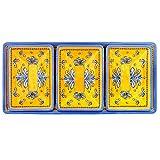 Le Cadeaux 4 Piece Benidorm Dip or Appetizer Set, Yellow