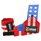 DMoose Fitness Wrist Wraps – Premium Quality, Strong Fastening Straps, Thumb Loops – Maximize Your Weightlifting, Powerlifting, Bodybuilding, Strength Training & Crossfit …