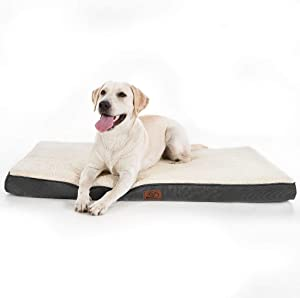 Bedsure Large Dog Bed (M/L/XL) for Small, Medium, Large Dogs Up to 50/75/100lbs - Orthopedic Egg-Crate Foam with Removable Washable Cover - Water-Resistant Pet Mat