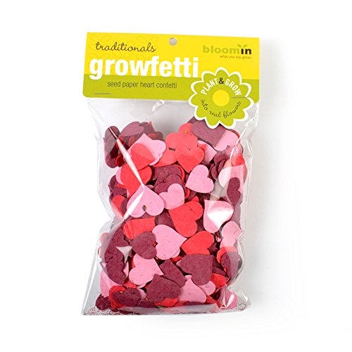Bloomin Seed Paper Shape Packs - Growfetti - Heart Shapes {Traditional}