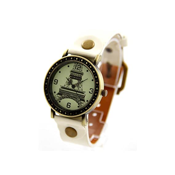 Vintage – Reloj Mujer Piel Blanco vintage pas barato 988