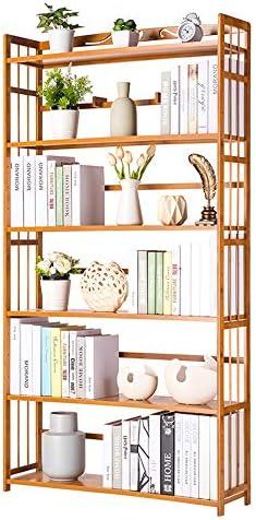 NNDQ Solid Wood 6-Tier Bookshelf