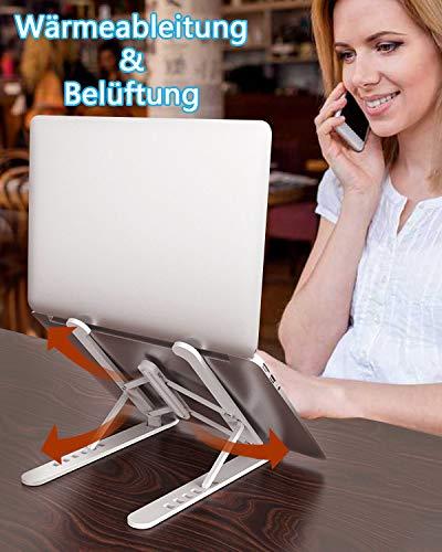 aifulo Laptop Ständer Höhenverstellbar, Notebook Ständer Tragbarer,Laptop ständer faltbar rutschfest und Kratzfest Kompatibel mit 11-15.6 Zoll Laptop
