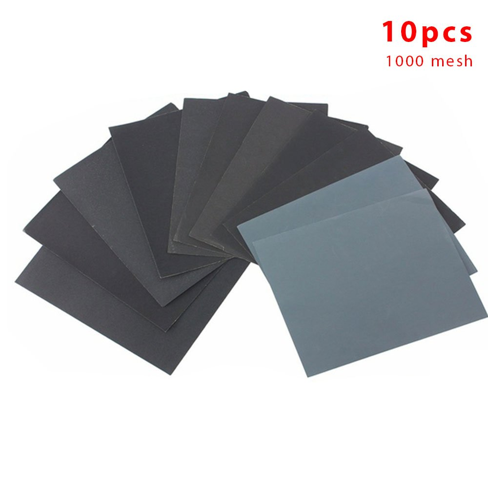 OYJJ 10pcs car Primer polishing Sandpaper car Sandpaper Grinding Board Dry and Wet Sandpaper polishing car Supplies - 1500 mesh
