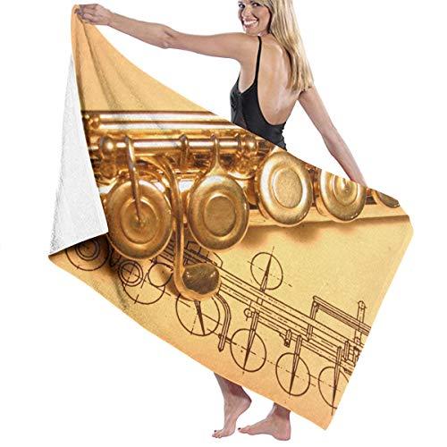 Kidhome Gold Flute Bath Towel Beach Spa Shower Bath Wrap Soft Light Comfortable Dries Fast]()