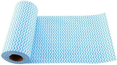 Küchentuch, Küchentücher, weiche Küchentücher, Vlies Free Cut 27 * 15cm für Zuhause für öffentliche Plätze(blue)